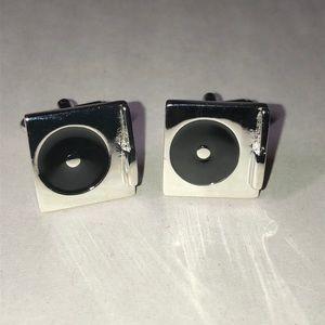 DJ turntable cufflinks